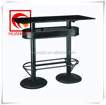 Black Cast Iron Bar Table Foot