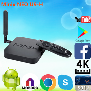 2019 New Arrival Minix NEO U9-H S912 2G 16G android tv box motherboard With  Long-term Technical SupportAndroid 6 0 TV Box
