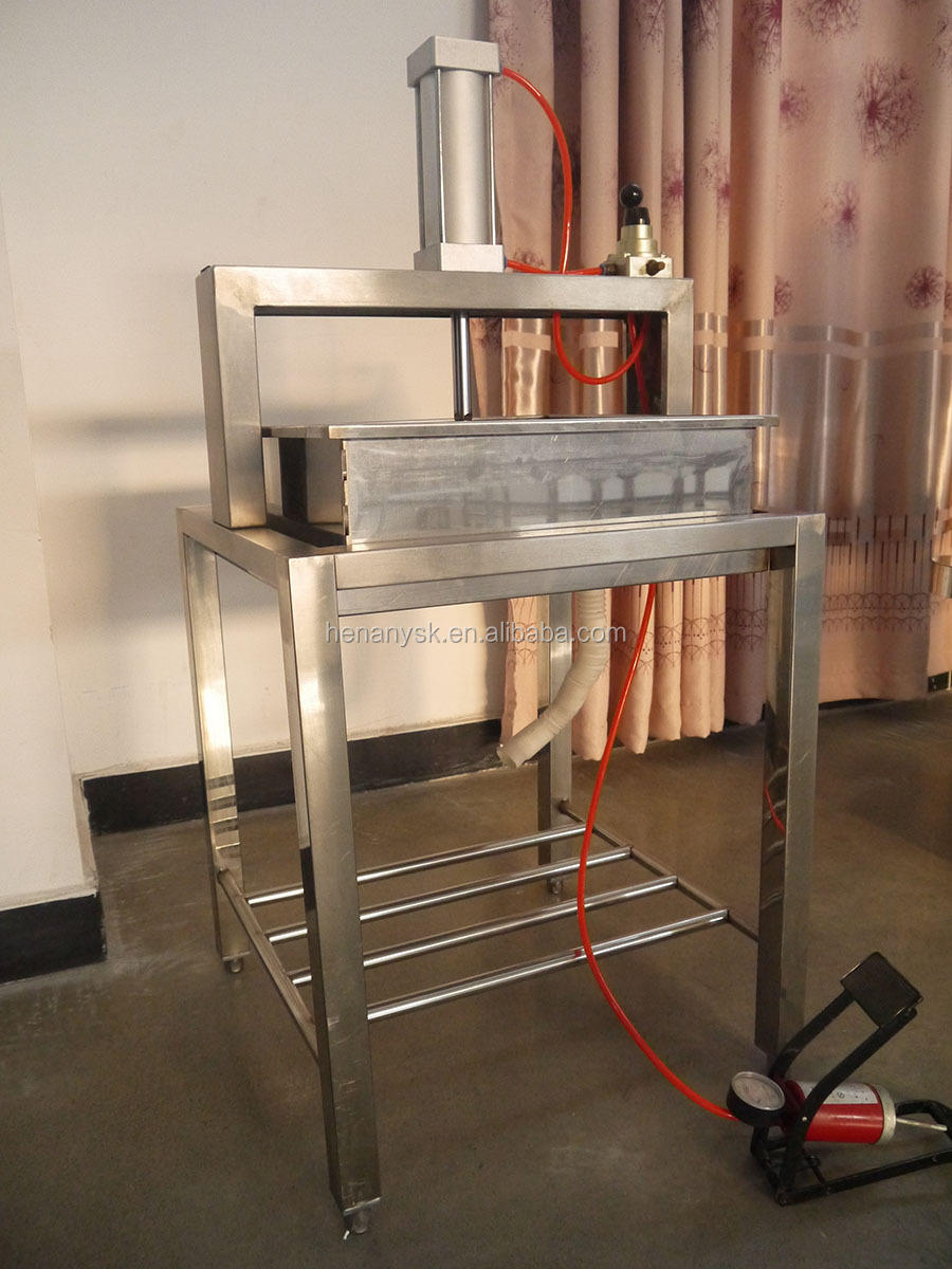 High Quality Pneumatic Air Pump Soymilk Pressing Bean Curd Milk Tofu Press Machine