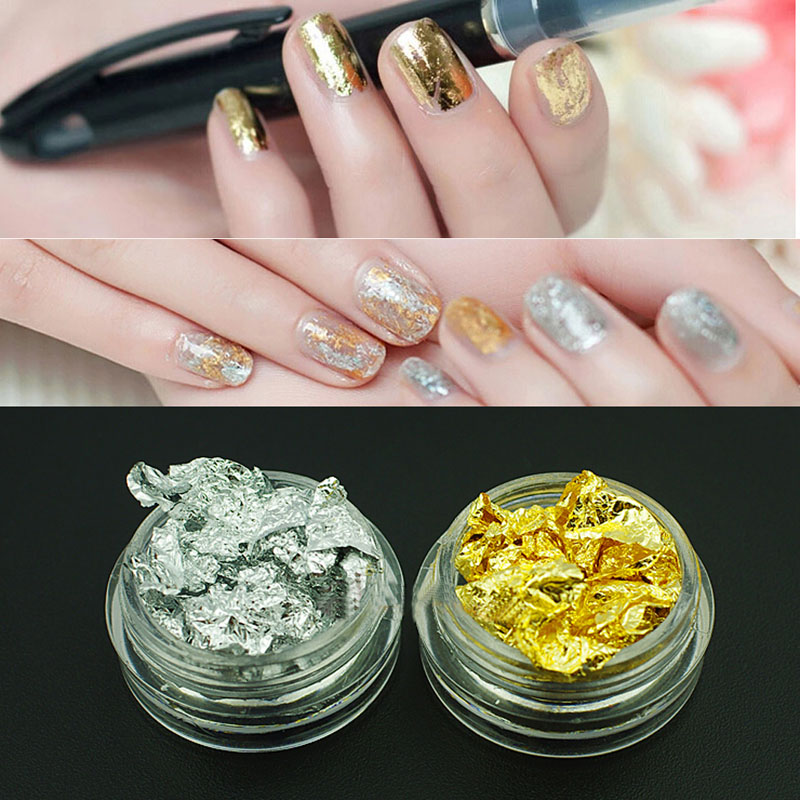 Gold And Silver Leaf For Diy Nail Art Beauty Your Hands