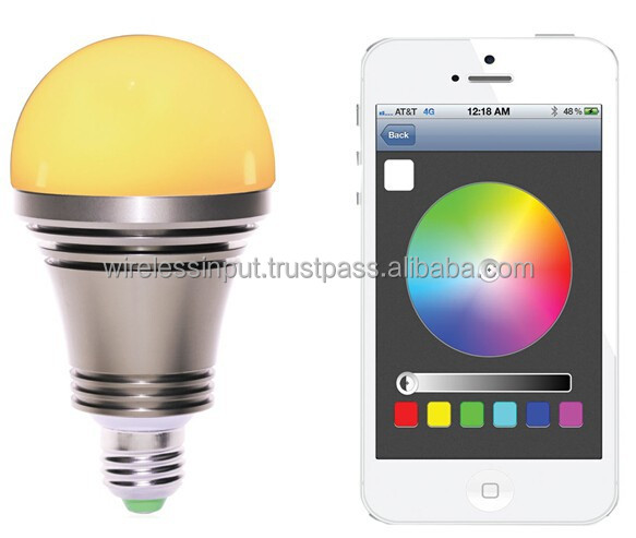 iSuper iRainbow001 Wi-Fi A19 Zigbee Smart Led Bulb for Lighting Automation with Iphone//Android Control Bronze