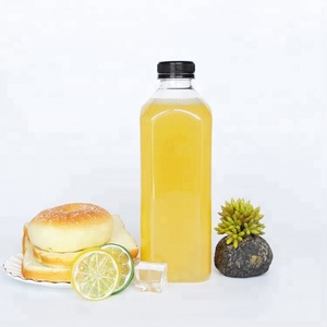 1000 ml 1000ml 1l 1 liter large capacity clear PET square plastic beverage juice bottles