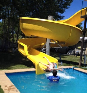 Fiberglass swimming pool water slide for adult and kids