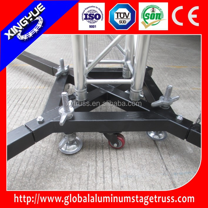 alu truss steel base,spigot/bolt truss base