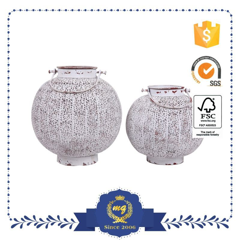 Good Quality Make To Order Small Order Accept Antique White Iron Lantern