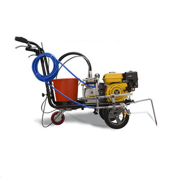 Small Airless spray cold solvent paint road marking machine for running track