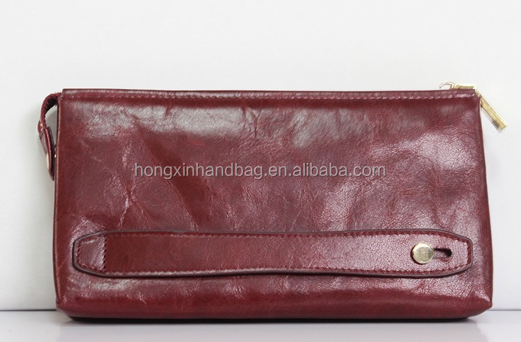2105 fashion oil leather wallet/ genuine leather handbag /purse and handbag