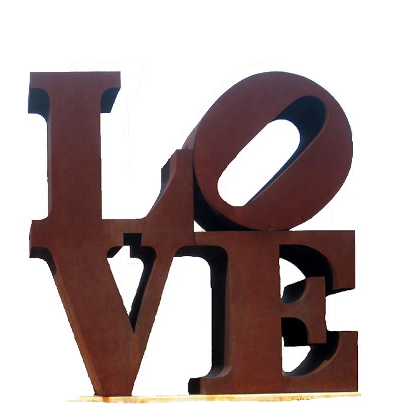 Hot Sale Large Garden Corten Steel Love Sculpture For Decor Buy