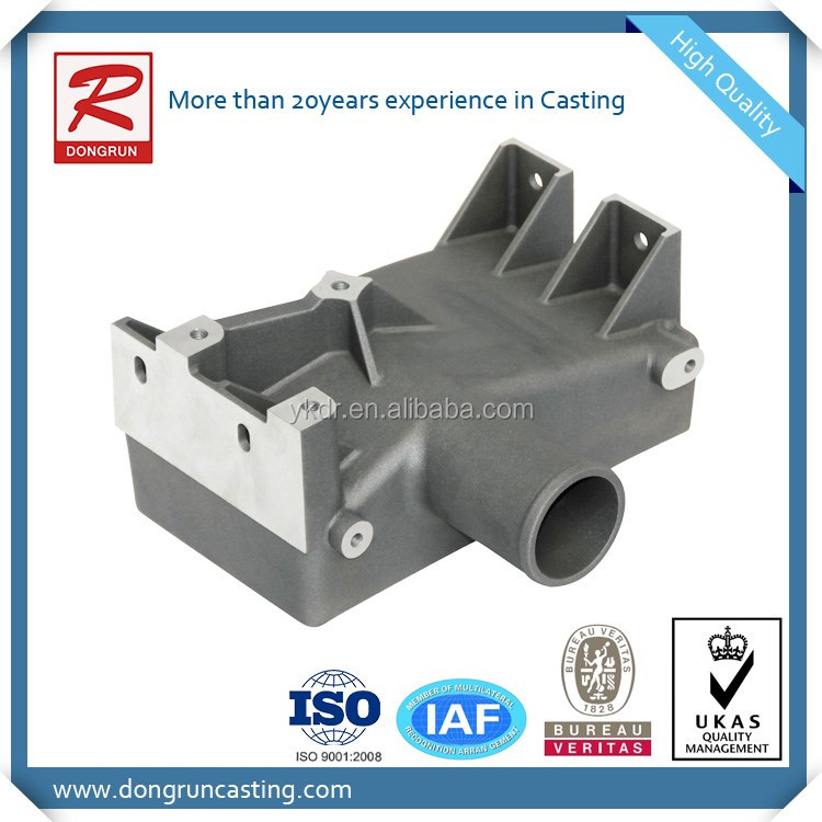 China Aluminum Resin Sand Casting Charge Air Manifold Parts ...