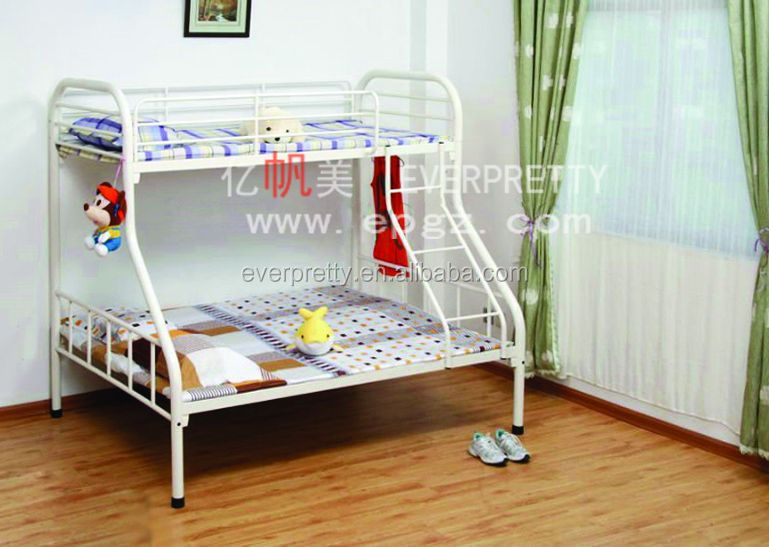 Latest designs wooden double bed baby doll carry bed pine for Small room design ideas double deck
