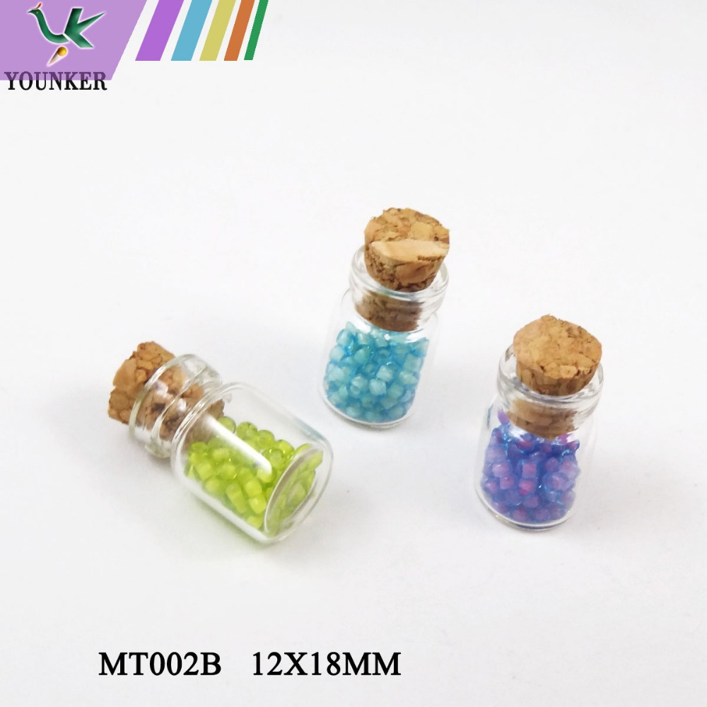 Cute mini small cork stopper glass bottles for wish bottle for Glass bottle crafts to make