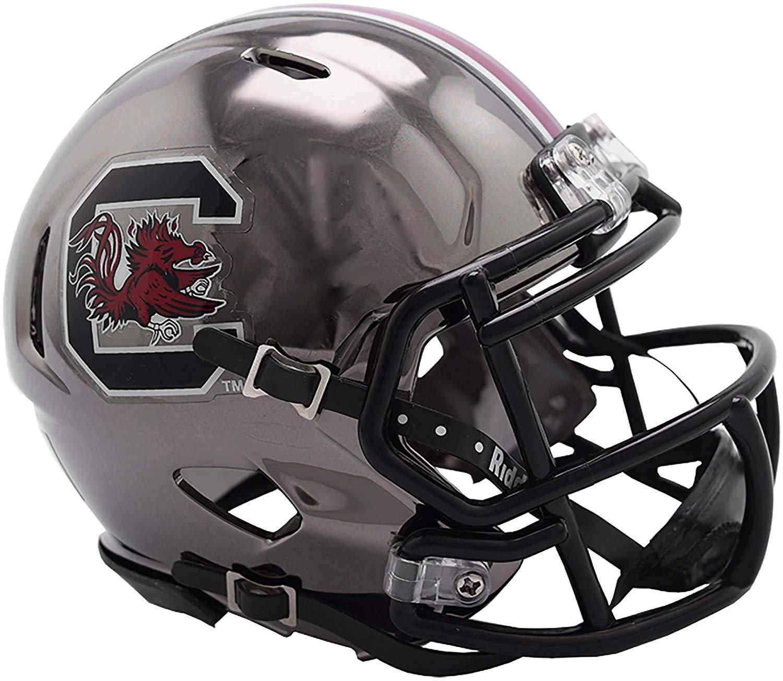 Get Quotations · Sports Memorabilia Riddell South Carolina Gamecocks Chrome  Alternate Speed Mini Football Helmet - College Mini Helmets 58dc4c3d3