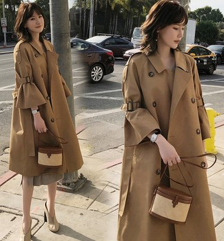 Slim fit Fashion Double breasted trench coats military style trench coat