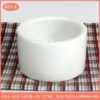 Wholesale Sublimation white porcelain ceramics tealight candle holder