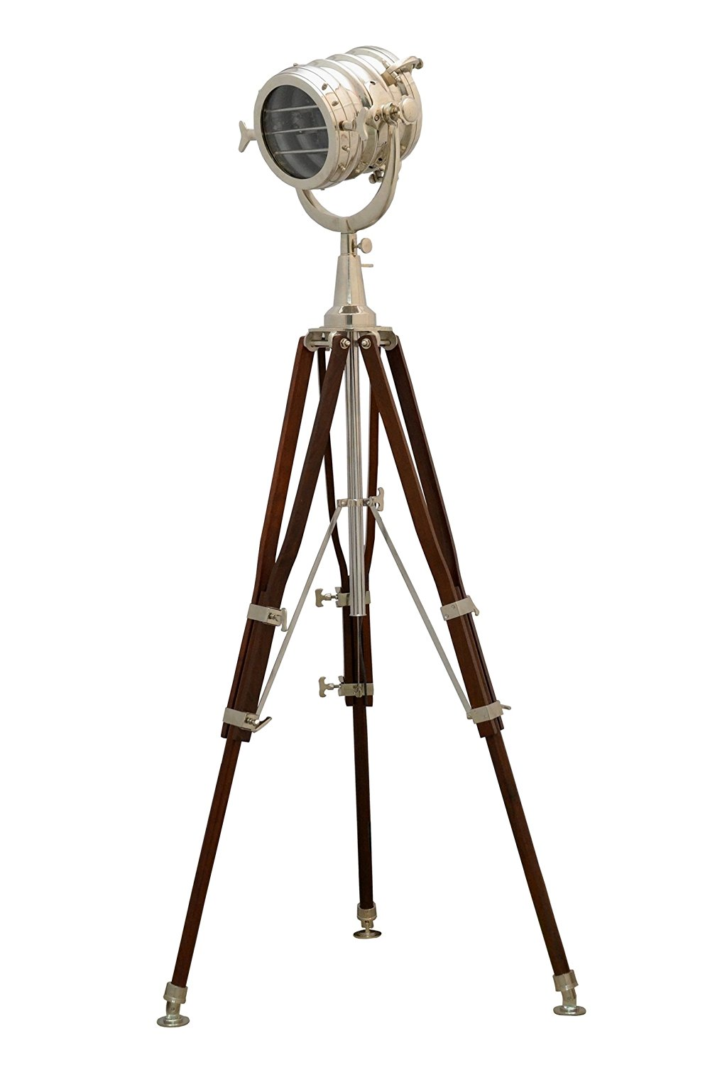 Br Nautical Vintage Marine Tripod Floor Lamp Search Light Cinema Studio Prop With