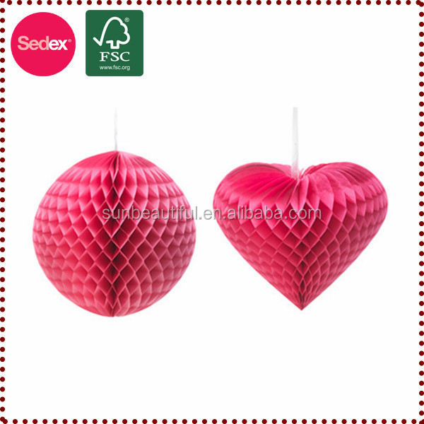 Heart Honeycomb Ball Wedding Stage Decoration China