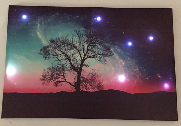 Top Grade Night Sky Canvas Led Wall Art For Home Painting