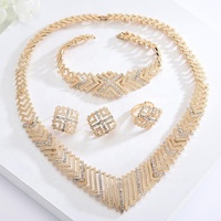 S10203A Wholesale New Fashion Wedding Party Jewelry Women Jewellery Sets In Gold Plated