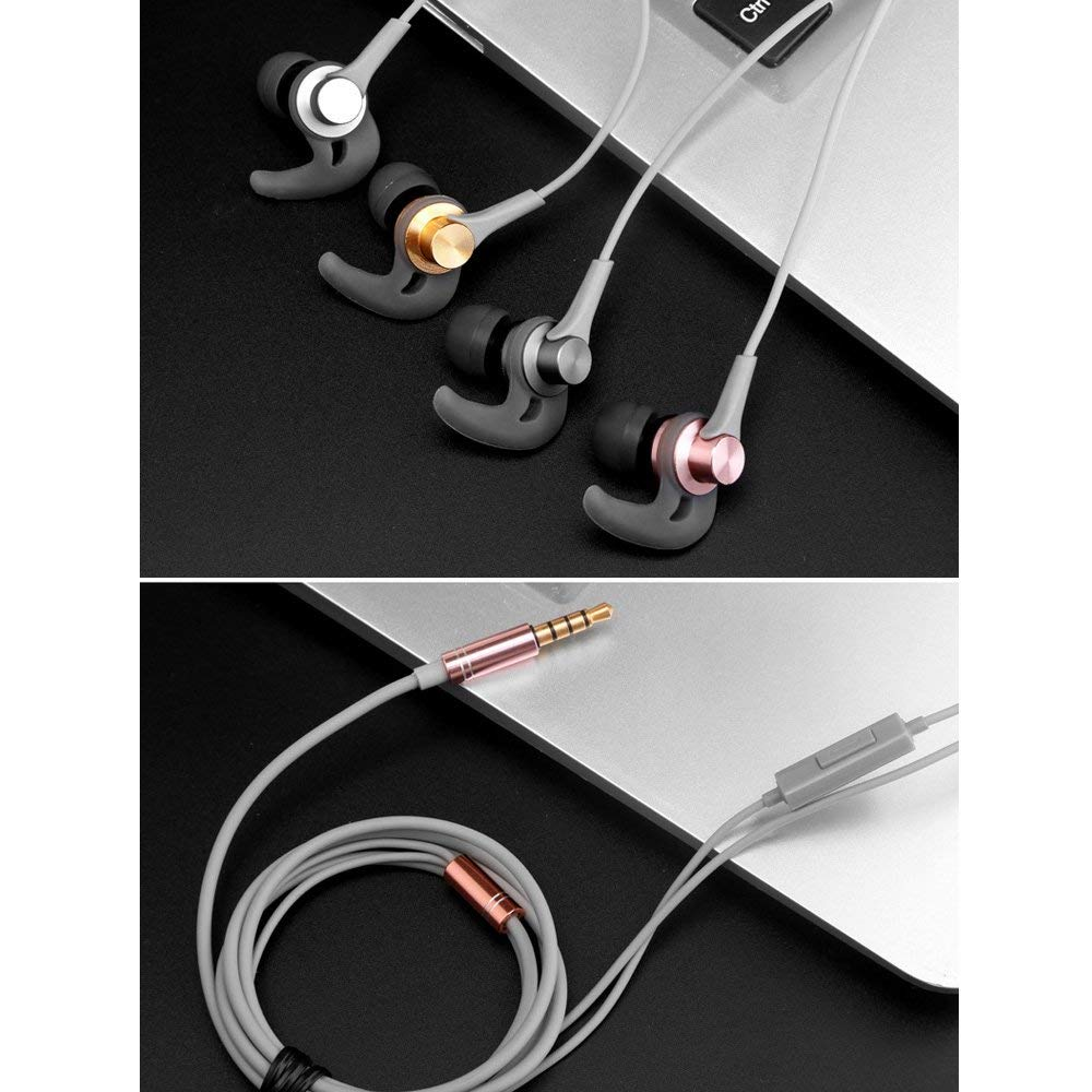 Earphones In-ear Stereo Subwoofer Remote Control with Wheat Call Music Earplugs Sports Headphones