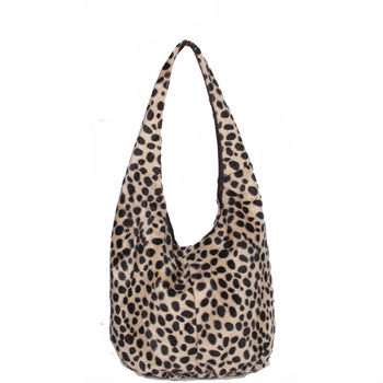 64e99a4041 Leopard Printed Imitation Wool Or Faux Fur Handbags - Buy Fur ...