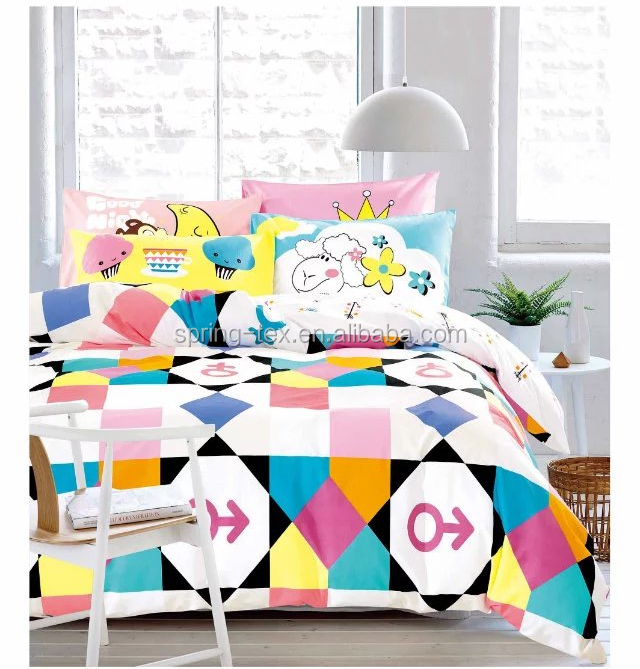 Oeko-tex Certificated 40'S Cotton Duvet Cover Set Kids Cute Designs with Super Quality