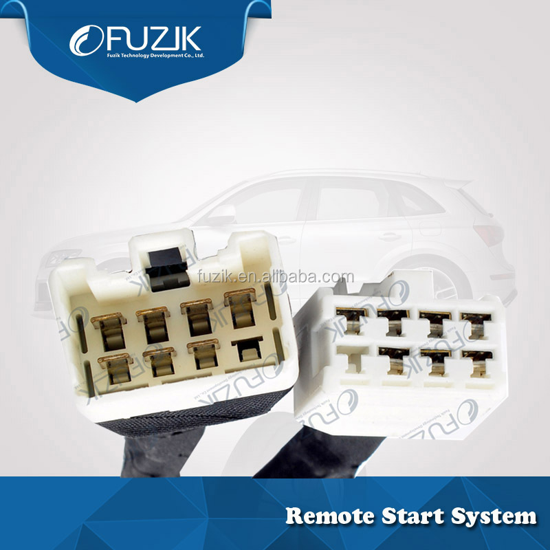 Fuzik one way car alarm system auto start stop button keyless go entry 1for E'Z for Toyota