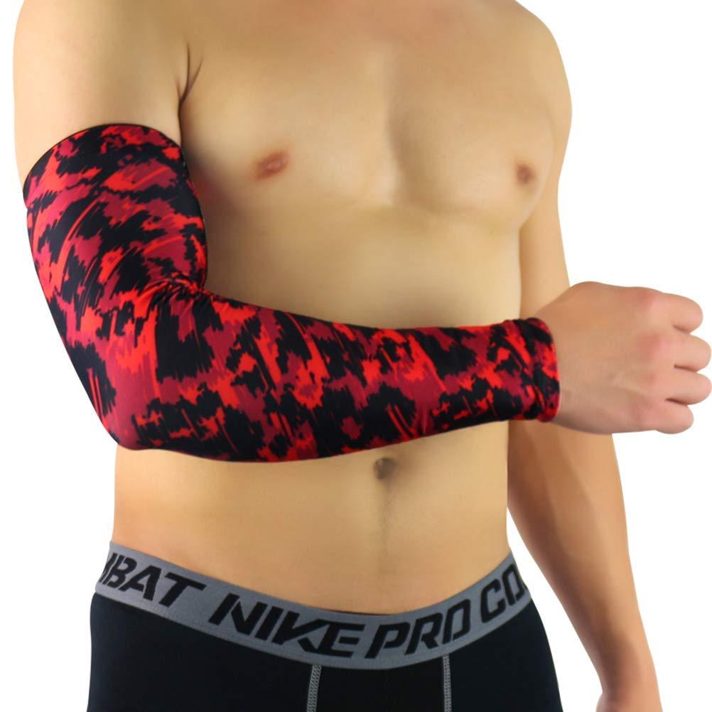 Jelinda Sports Compression Arm Sleeves Anti-collision Elbow Protector 1pc/ 2pcs