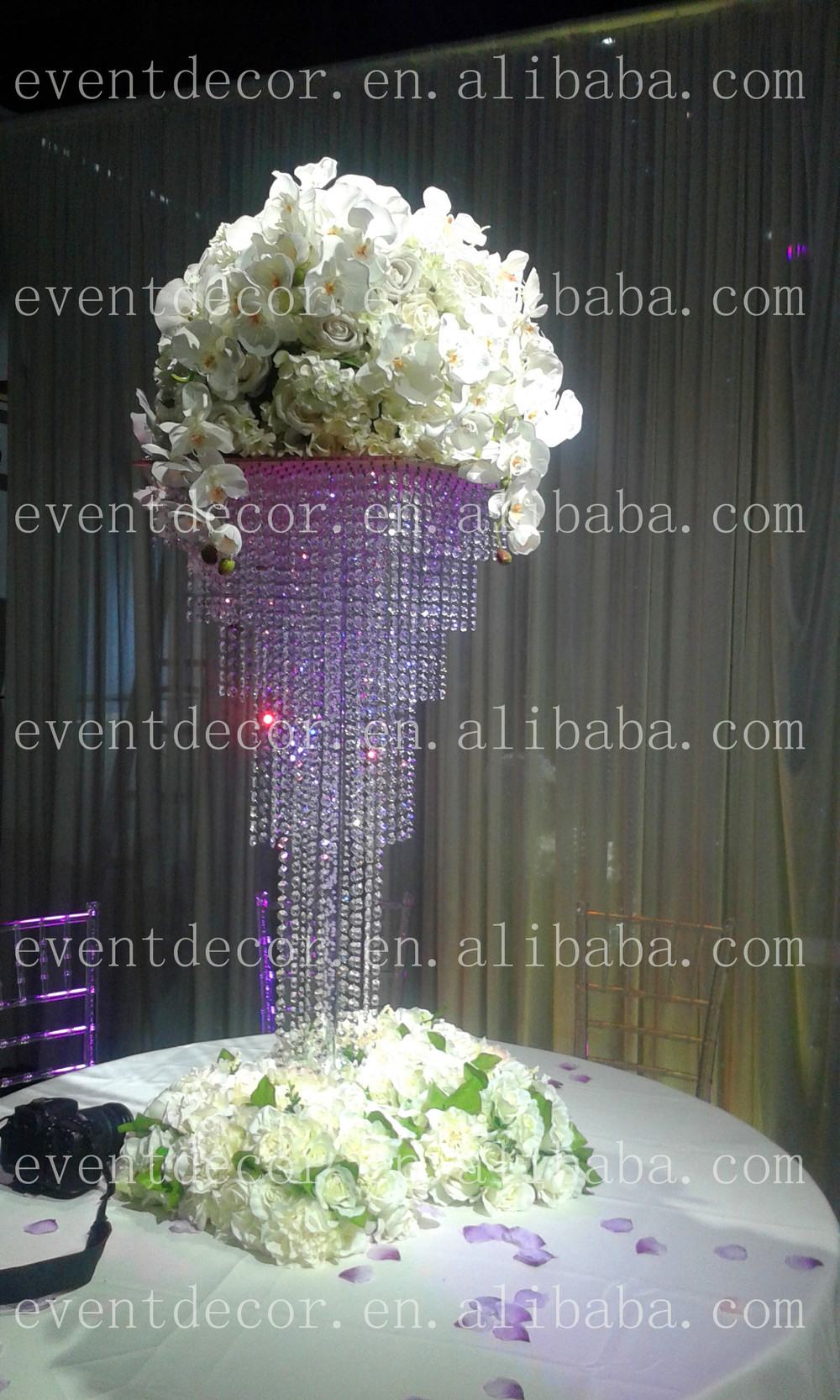Square Hanging Crystal Wedding Centerpieces New Whole