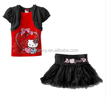 59ed9a685 Best selling hot sale wholesale dress shirts hello kitty children baby girl summer  dress QGD-
