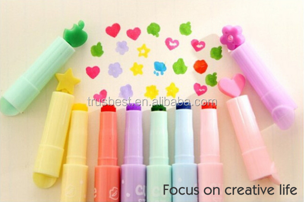 6 pcs/lot rotuladores colores multiple digital highlighter pen maker pen articulos de papeleria stationery escolar