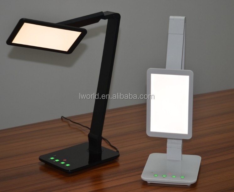 Shenzhen Factory LED Desktop Lamp with Large LED Panel, CCT Control Dimmable USB LED Desk Lamp
