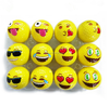Funny stress relief toy face emoji pu foam balls promotional anti stress toy