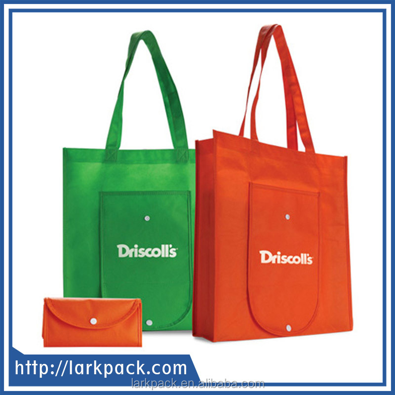 Custom cheap reusable foldable non woven shopping bag wholesale with logo