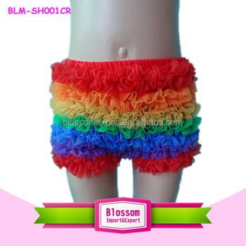 Sex Kurze Modischer Rüschen Hot Regenbogen Mädchen Stil Baby Shorts Heißen Hose Hosen Kinder Buy Chiffon YyIbgm76vf