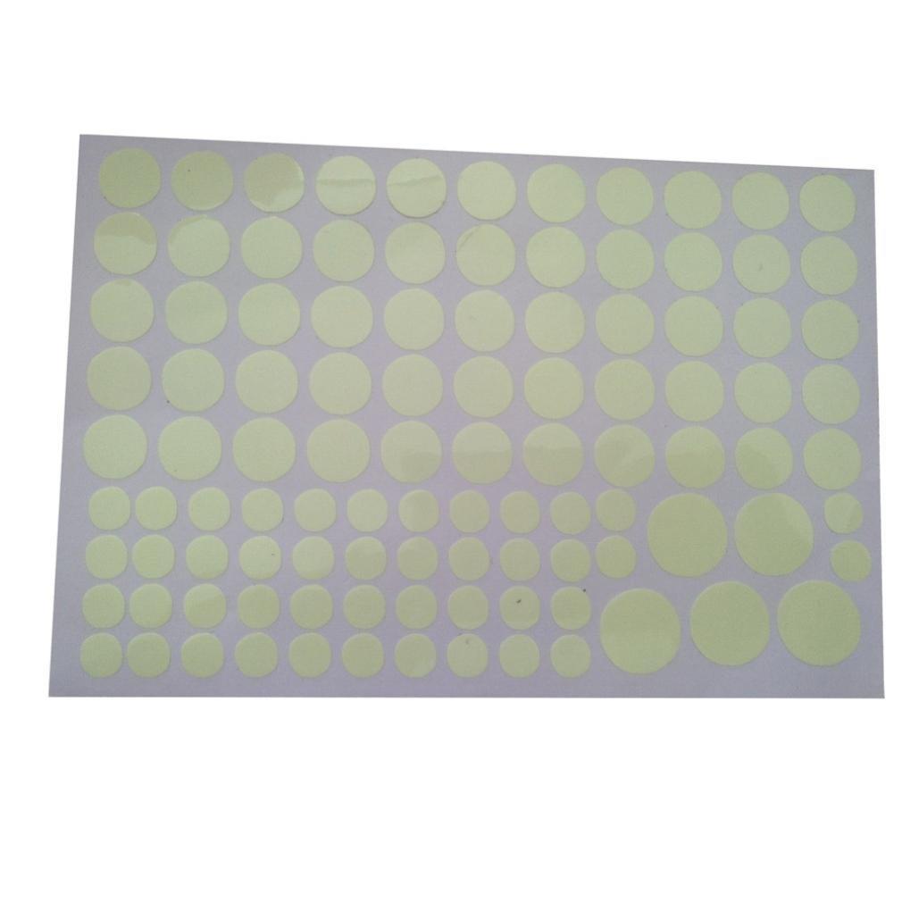 Rumas Glow in the Dark Star Wall Stickers 104Pcs Round Dot Luminous Kids Room Decor