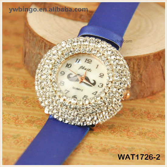 Starry diamond leather watch fashion female models Women's Antique Art Deco