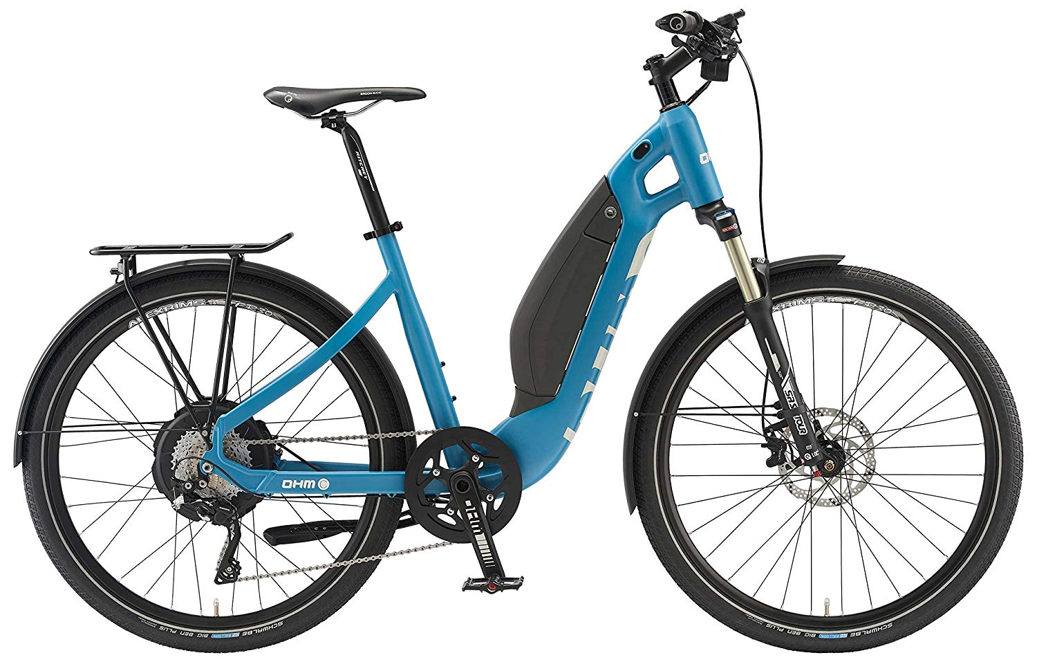OHM electric bicycles, Blue, 16.5inch/Small
