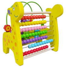 Wholesale Toys Colorful Educational Wooden Beads Abacus for Kids