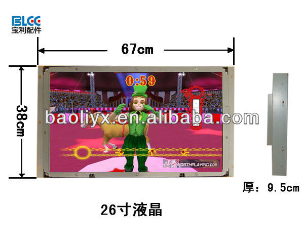 "26"" LCD screen for game machine"