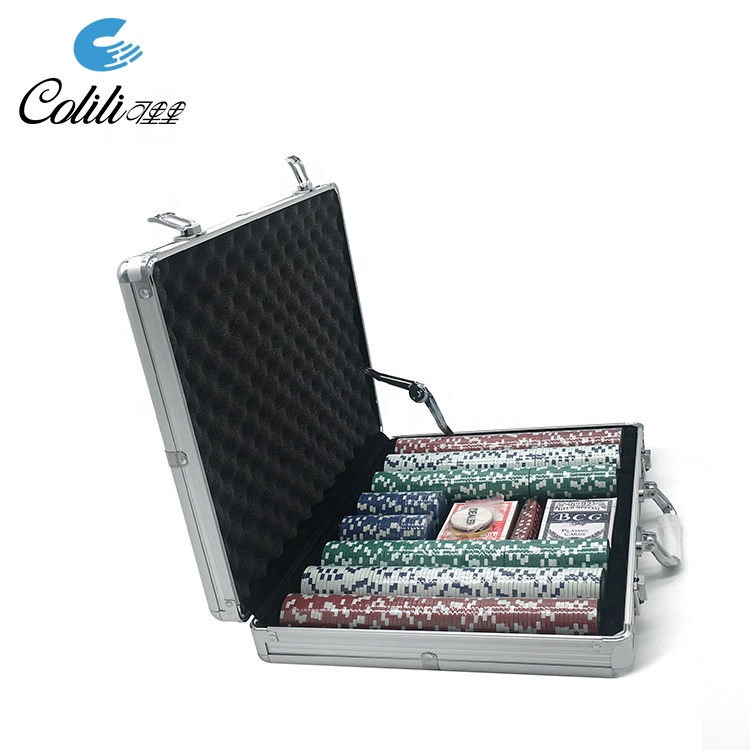 Custom nieuwe casino aluminium case 500 poker chip set