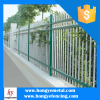 Modern & Popular Wrought Iron Fence Panels Mounted to Concrete Post