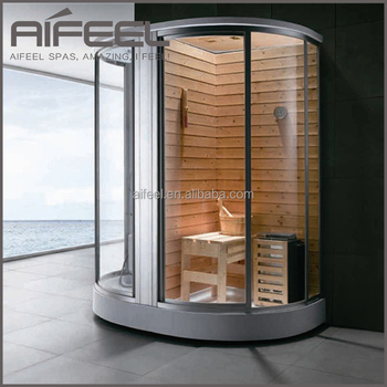 Mini Ozone Wooden Sauna Shower Combination Portable Sauna And Steam ...