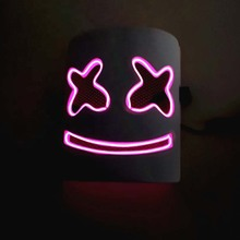 Halloween LED neon <span class=keywords><strong>masker</strong></span> Licht Up Party Maskers Neon <span class=keywords><strong>Masker</strong></span> Cosplay Mascara Horror Mascarillas Glow In Dark Masque V voor <span class=keywords><strong>vendetta</strong></span>