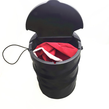 very hot seller foldable Polyester Hanging Luxury Trash Container Garbage Holder Car Rubbish Bin