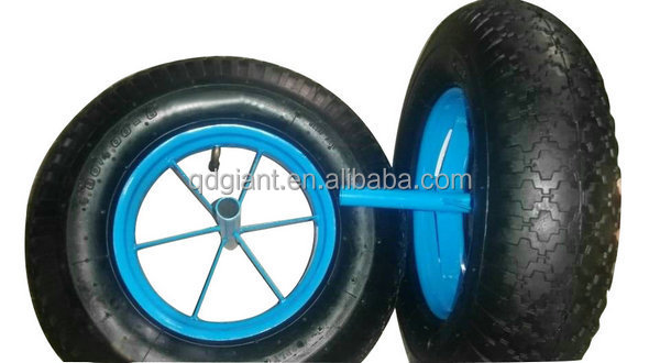 Pneumatic wheel 4.80/4.00-8 stud pattern 2PR