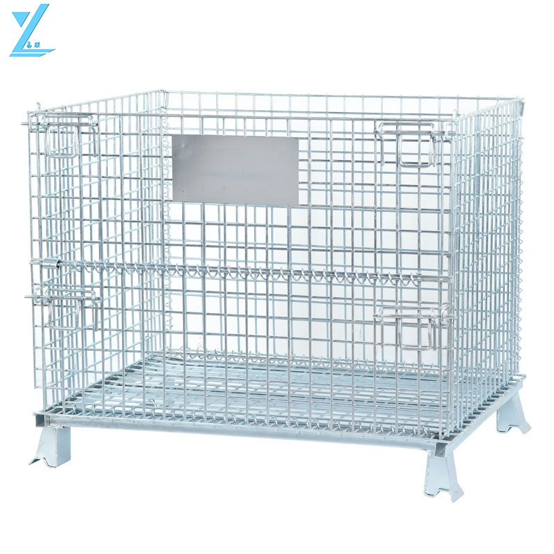 Galvanizing Wire Mesh Storage Cage / Wire Container For Warehouse Use