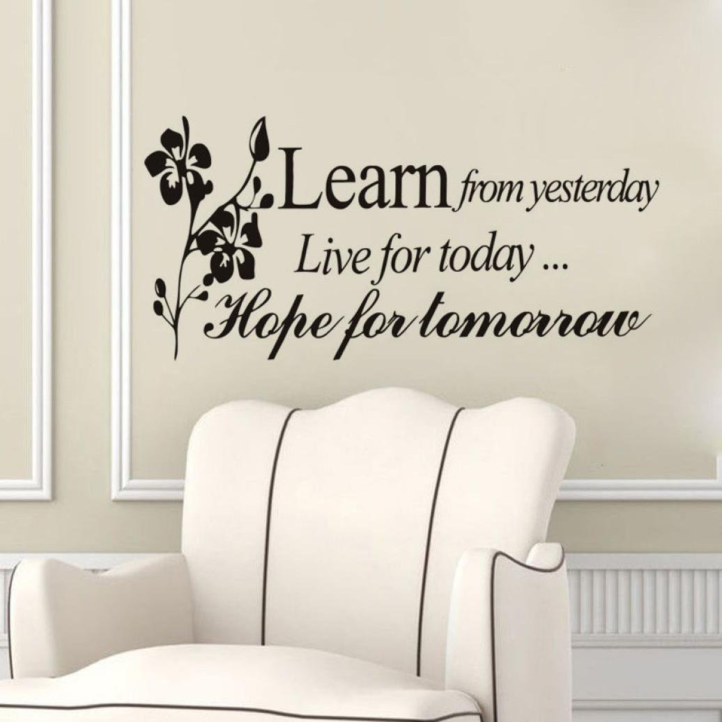 Usstore Learn From Yesterday Family Love Wall Stickers Art Home Decor Decoration Vinyl Art Mural