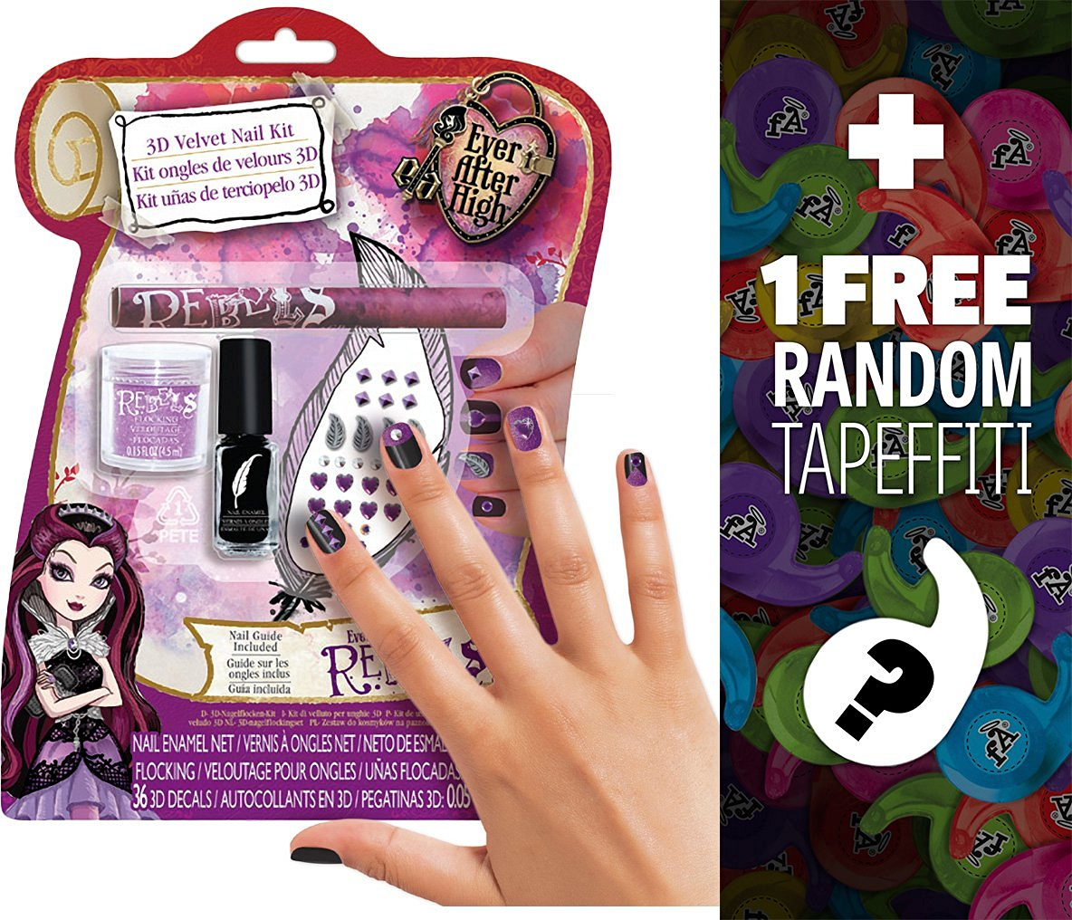 Hot Focus Pop Nail Glitz 3d Unicorn Nail Art Kit For Girls 65