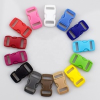 MeeTee 15mm High-quality Multicolor Plastic Adjustable Side Release Buckle for Backpack