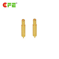 Waterproof pin battery connector pogo pin with dip gold plated